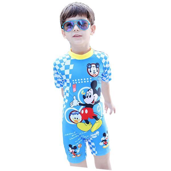 6c30962da725 Kids Children Boys Swimwear Full Body Swimsuit with Cap - Mickey