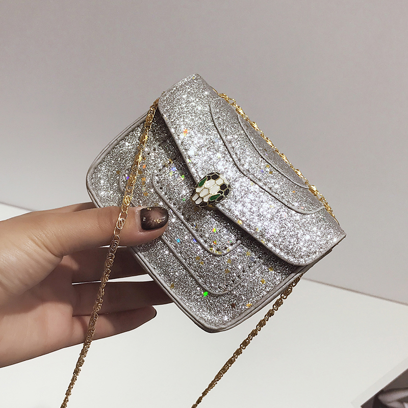 Kids Children Girl Beauty Little Princess Bag Sequin Small Square Bag