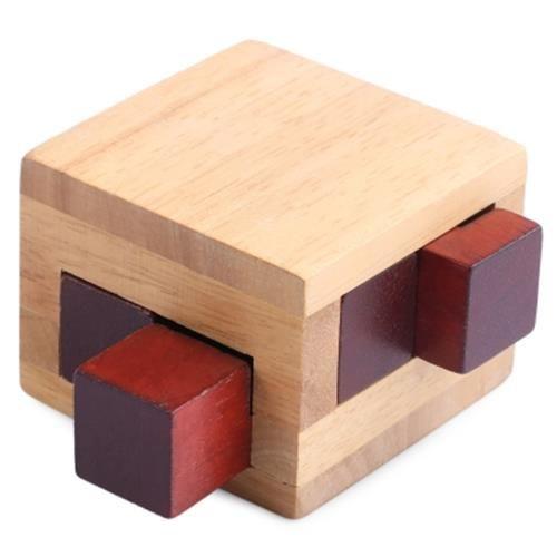 Kids Classical Wooden Interlocking Cube Puzzle Intelligence Development Toy Br