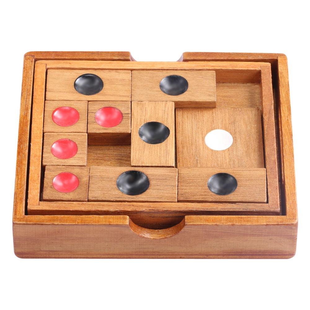 KIDS CLASSICAL WOODEN SLIDE ESCAPE PUZZLE INTELLIGENCE DEVELOPMENT TOY..