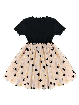 Kids Clothing Girls Dress Short Sleeve Cute Casual Children Soft Cotto