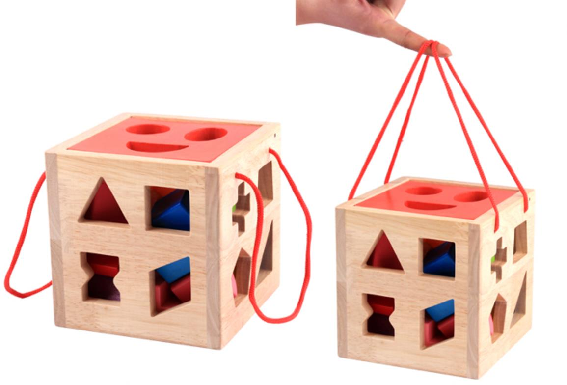 Kids Colourful Building Block Cube