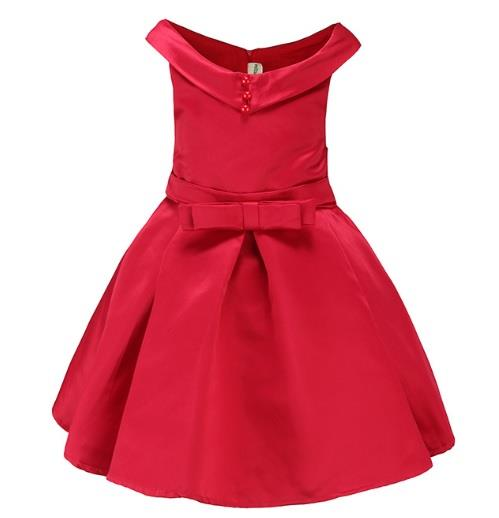 Kids Dress, CNY Dress, Dress for Age 1-8, M10-017 Red, Pre-Order