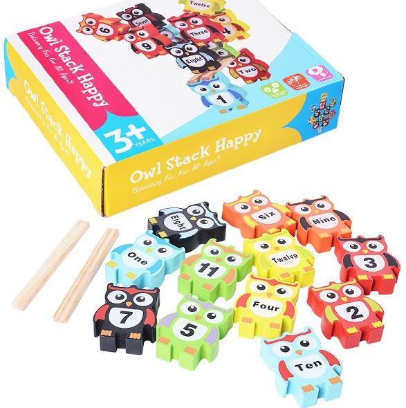 081721a621383 Kids Early Education Wooden Toys Owl (end 5 9 2019 12 37 PM)
