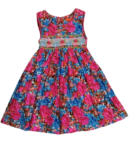 Kids Girl  floral dress cotton dress summer fashion