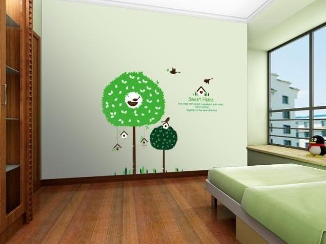 Kids Green Tree Cartoon Children S Room Decor Vinyl Wall Sticker