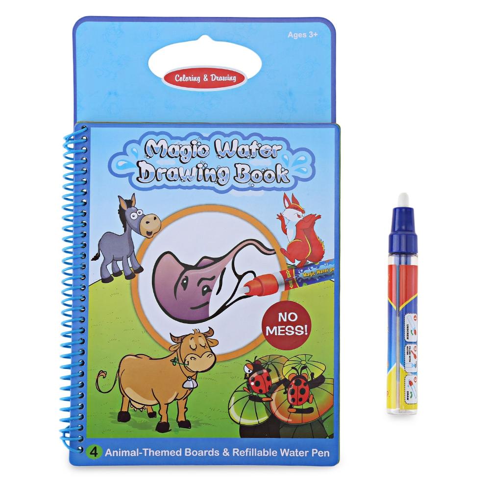 Watercolor books for kids - Kids Magic Animal Water Drawing Book Painting Board Watercolor Pen