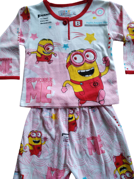 Kids minions Pajamas long sleeve