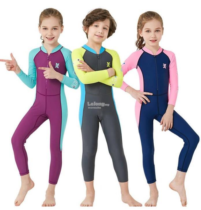 716f5536eb Kids One Piece Swimsuit Long Sleeves Long Trousers Full Sun Protection. ‹ ›
