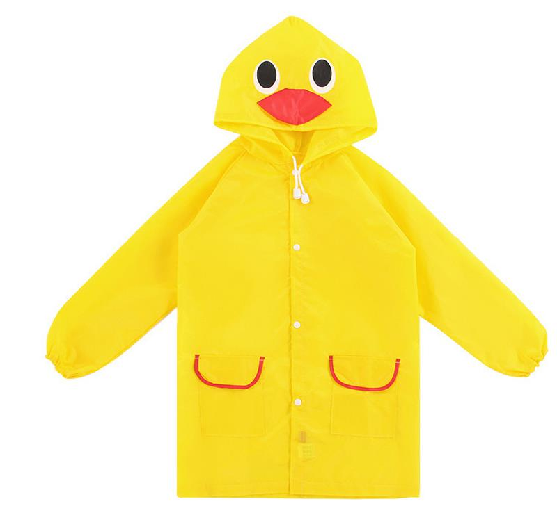Kids Outdoor Cute Funny Raincoat (Yellow Duckling)