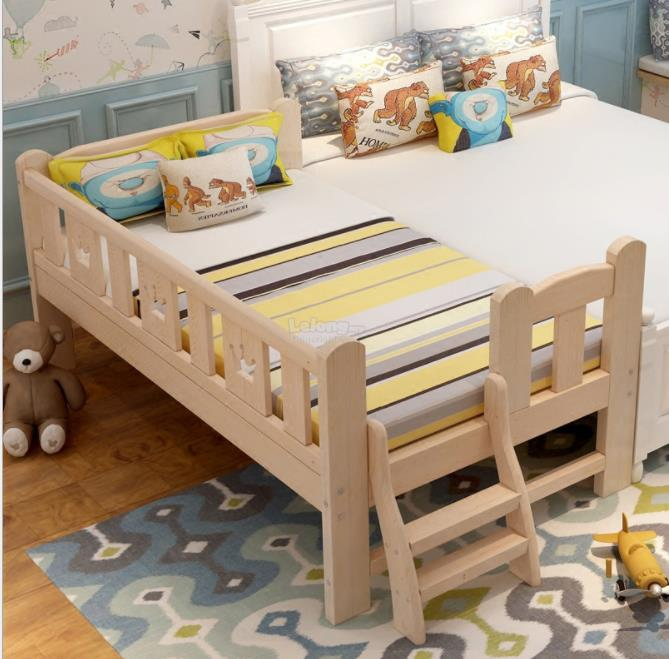 Kids Solid Wood Bed With Free Mattres