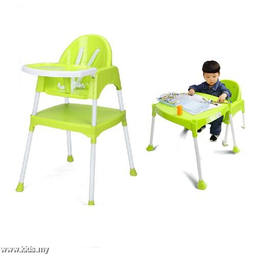 Kids Station Multipurpose Baby High Chair Green