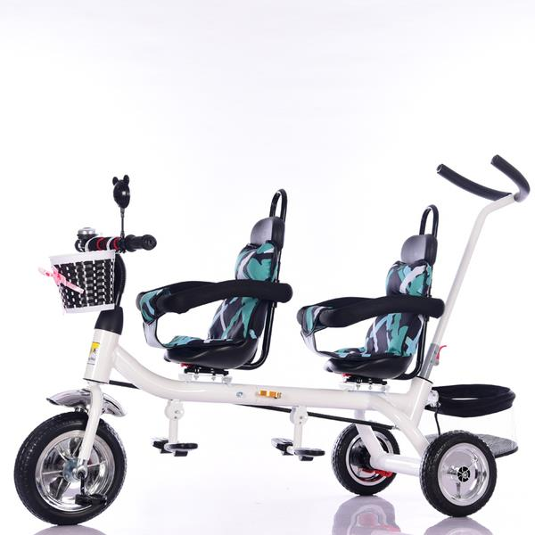 Kids Stroller Bicycle Bike Double Seat Kids Bicycle Twin Bicycle Witho