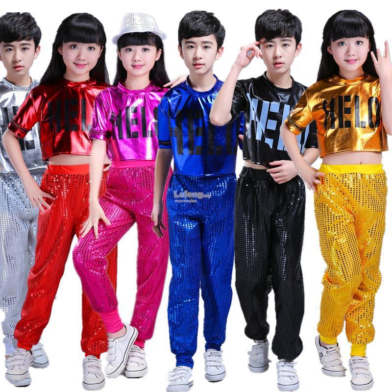 2b9c65982f8 Kids Teen Boys Girls Dance wear Cheerleader Jazz Pop hiphop stage perf. ‹ ›