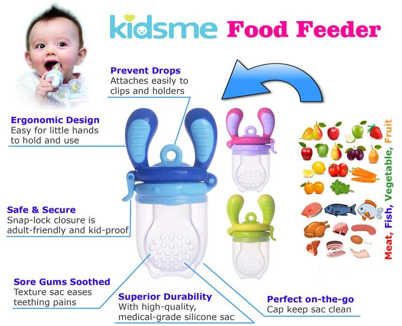 Kidsme Food Feeder Single Pack for babies 4 months & up