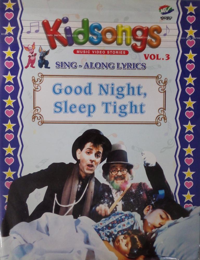Kidsongs Sing Along Lyrics Good Night Sleep Tight Vol 3 VCD