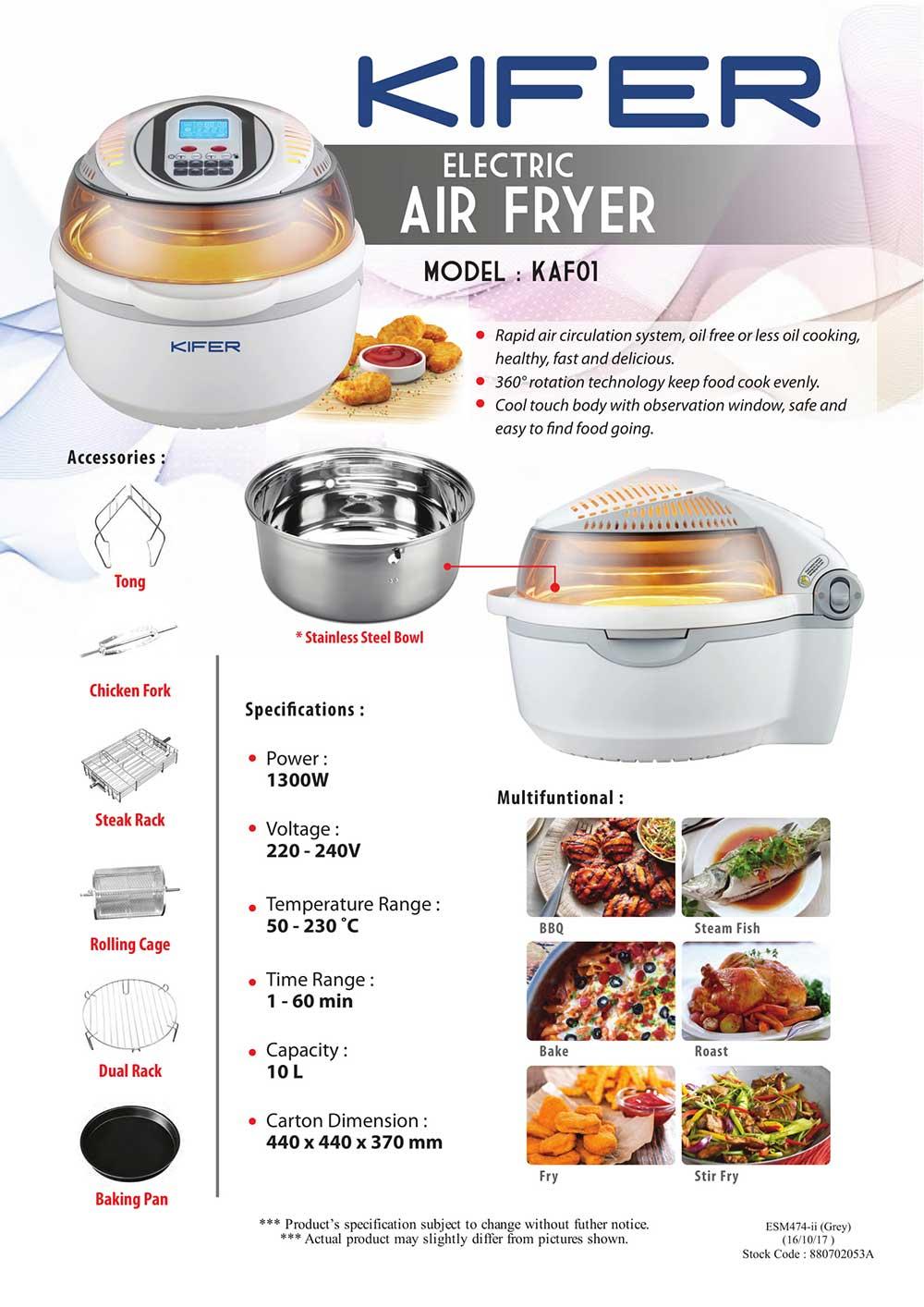 Hasil carian imej untuk Kifer air fryer