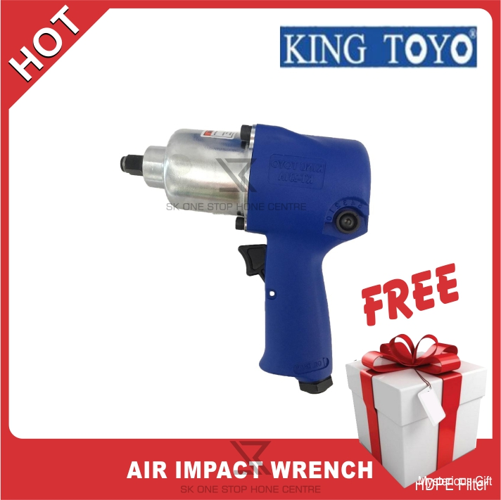 "KING TOYO KT-231A 1/2"" SQ Air Impact Wrench Free Mysterious"