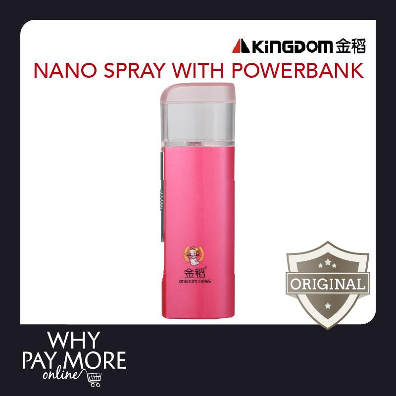 Kingdom KD-77 Facial Mist Sprayer With Powerbank Portable Nano