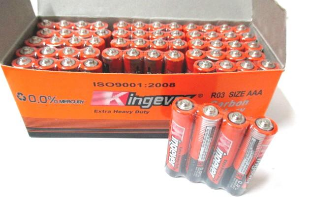 *Kingever ^Extra Heavy Duty AAA Carbon Battery Batteries 1box 60pcs