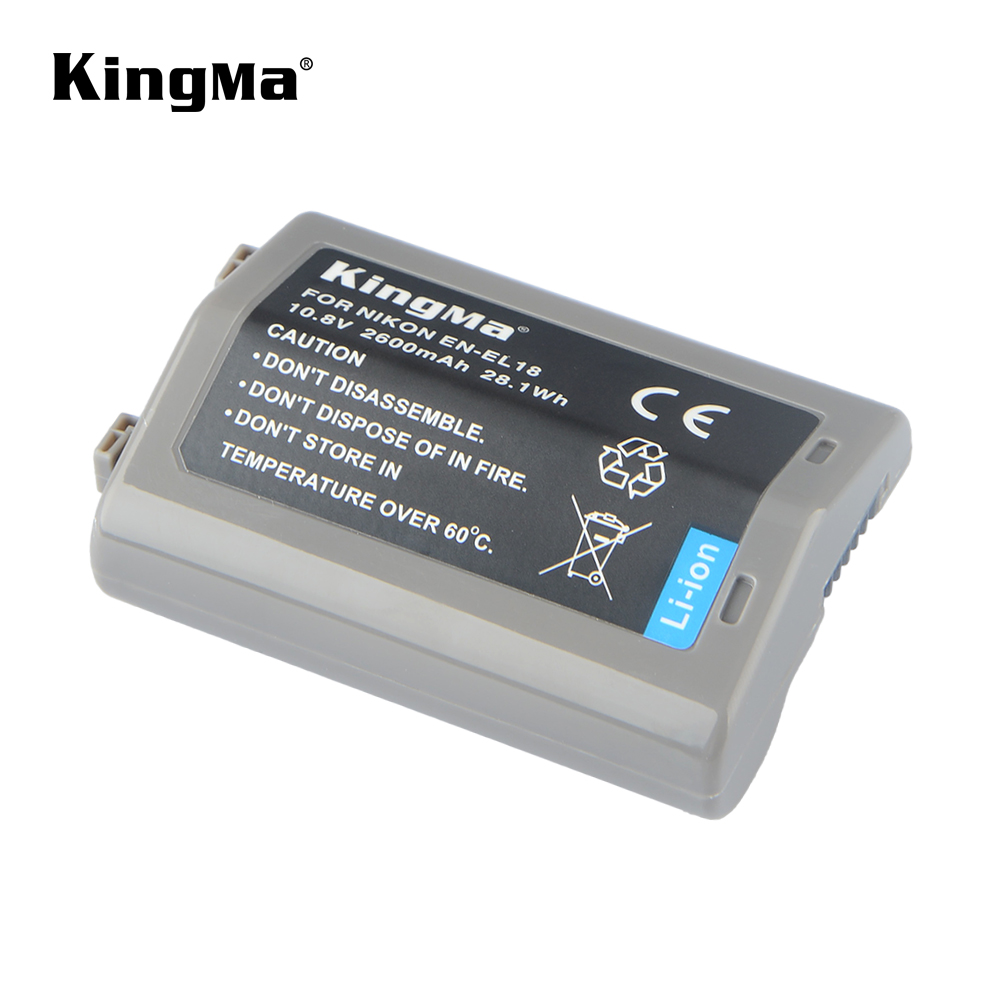 KingMa 2600mAh EN-EL18 ENEL18 Rechargeable Li-ion Battery for Nikon D4 D4S D5