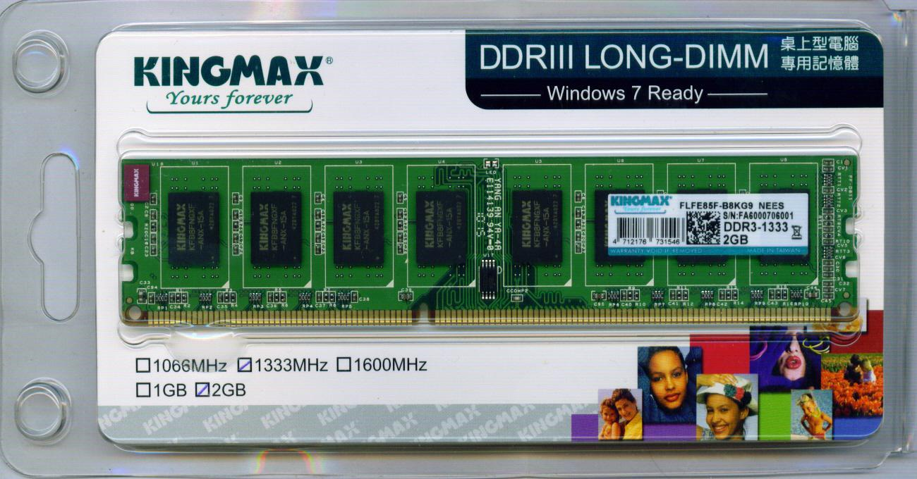 Kingmax 2GB DDR3 1333mhz Desktop Pc Ram NO GST