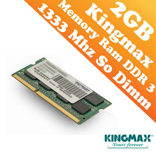 Kingmax DDR3 PC-1333 2GB Short Dimm (Notebook) Ram (1333Mhz)