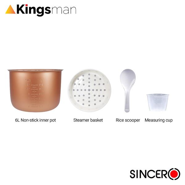 [Kingsman] SINCERO Multifunction 6L Gold Smart Cooker FOC 16 Free Gift