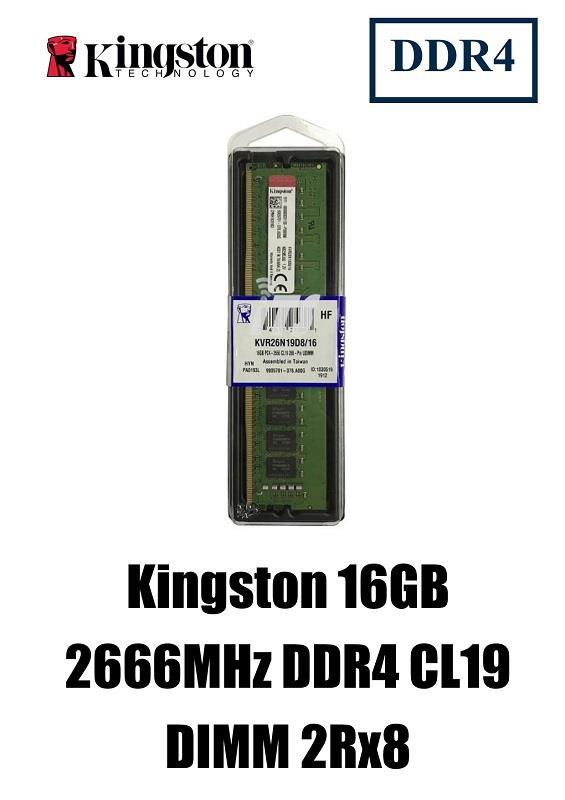 Kingston 16GB 2666MHz DDR4 Non-ECC CL19 2Rx8