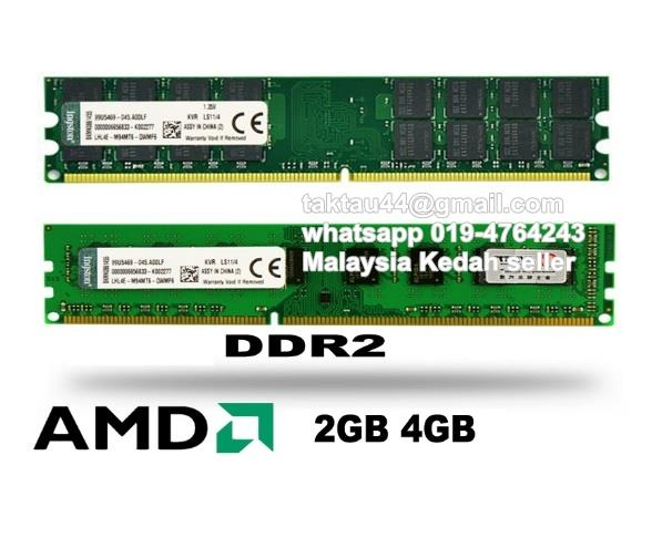 Kingston 2GB 4GB DDR2 800mhz Desktop Ram (AMD Only) Compatible 667mhz
