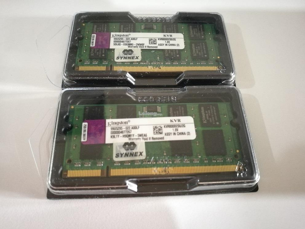 Kingston 2GB 800MHz DDR2 Notebook Ram  (KVR800D2S6/2G)
