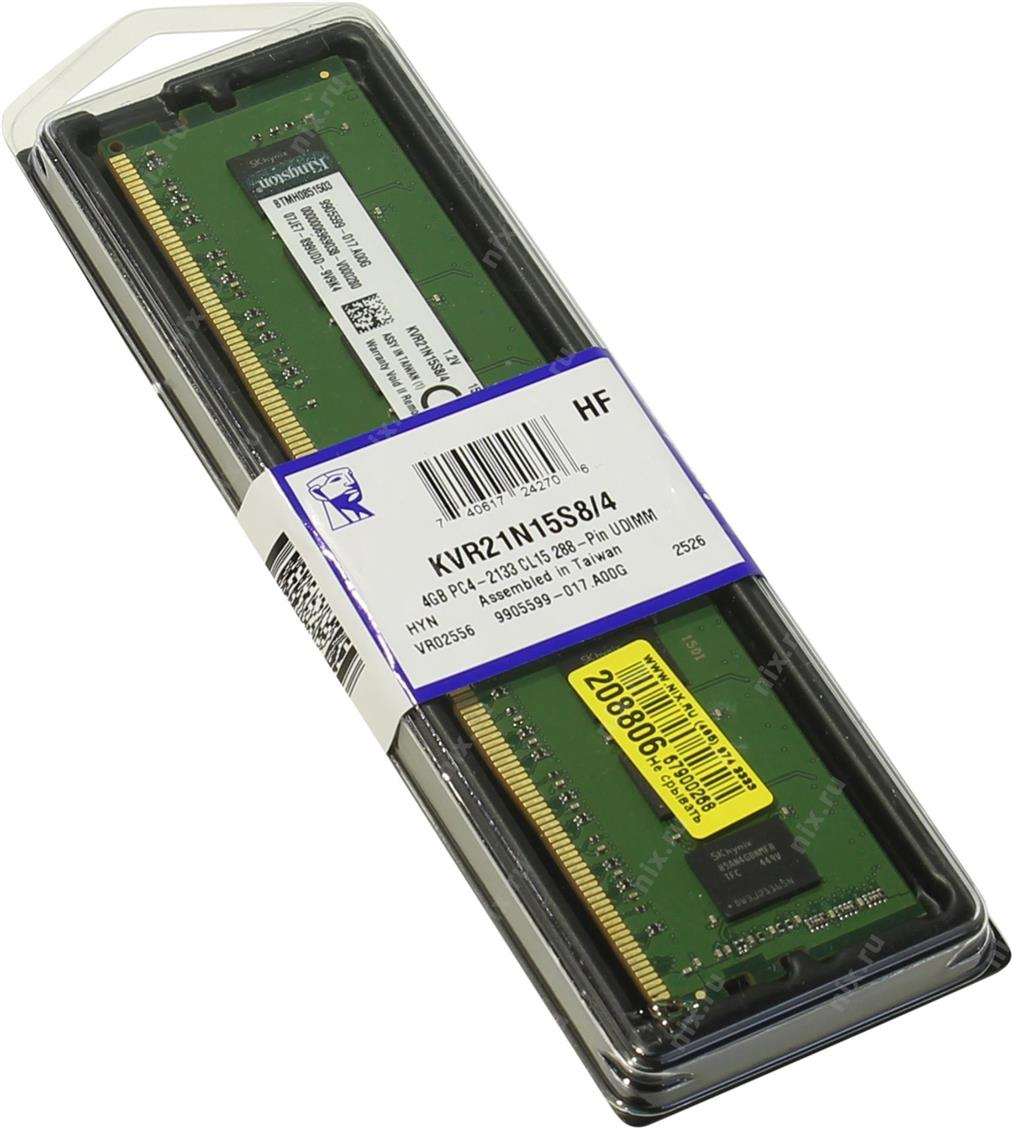 Kingston 4GB 2400MHz DDR4 ECC Reg CL17 - KVR24R17S8/4