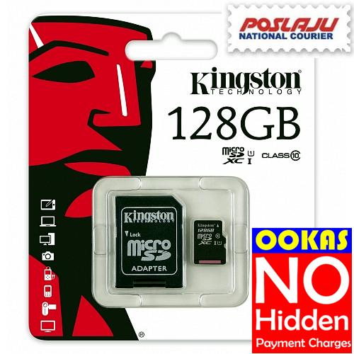 KINGSTON 80MB/s Class 10 Micro SD 16GB/32GB/64GB/128GB Memory Card
