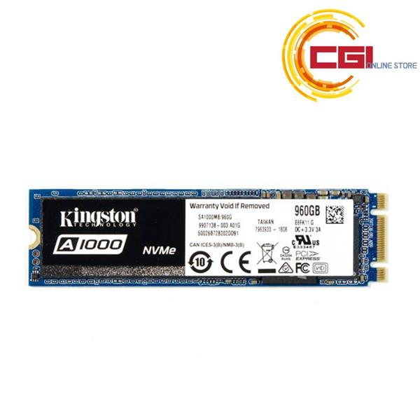 Kingston A1000 960GB PCIe NVMe M 2 2280 SSD (SA1000M8/960G)