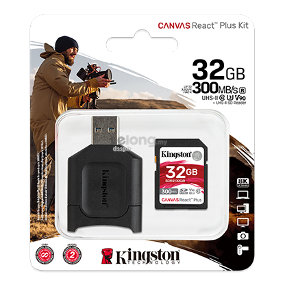 Kingston Canvas React PLUS SD ( 32GB )