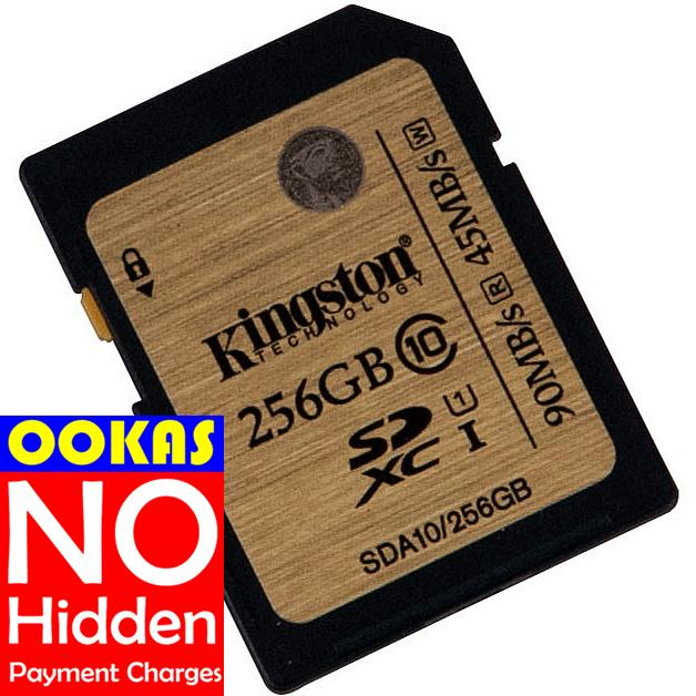 KINGSTON Class 10 UHS-I 16GB/32GB/64GB/128GB/256GB SD Memory Card DSLR