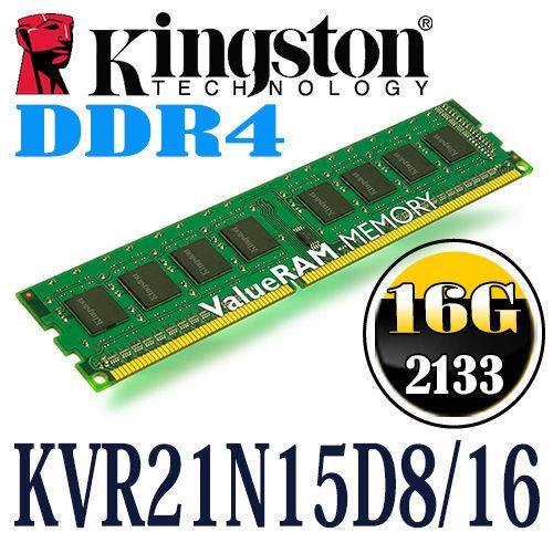 Kingston Desktop 16GB DDR4 2133MHZ CL15 Dimm Ram KVR21N15D8/16