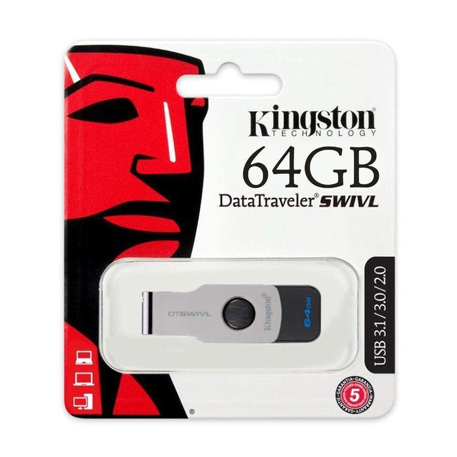 KINGSTON DTSWIVL USB 3.1 16GB/32GB/64GB/128GB Flash Drive / Pendrive