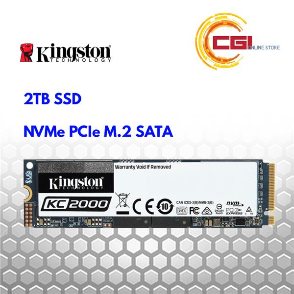 Kingston KC2000 2TB NVMe PCIe M.2 SSD (SKC2000M8/2000G)