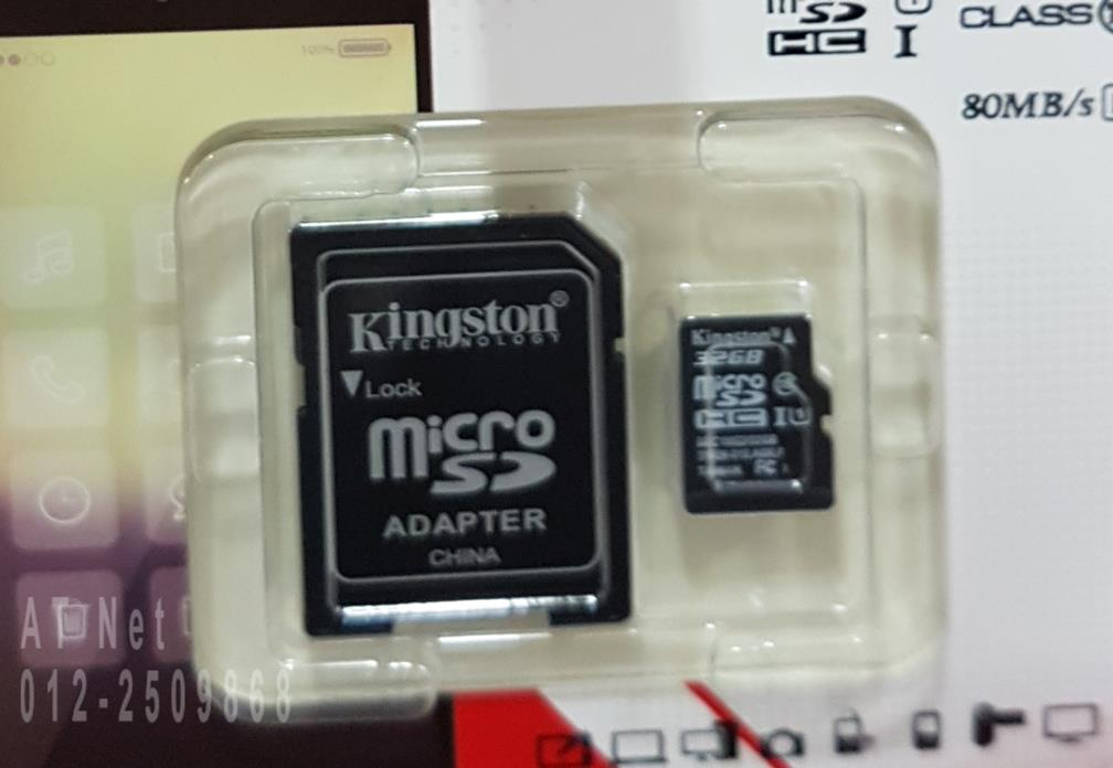 KINGSTON MICROSD TF CARD CL10 80MBS WITH ADAPTER 32GB