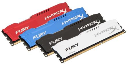 Kingston PC Gaming Memory - HyperX Fury DDR3-1600MHz - 4GB/8GB
