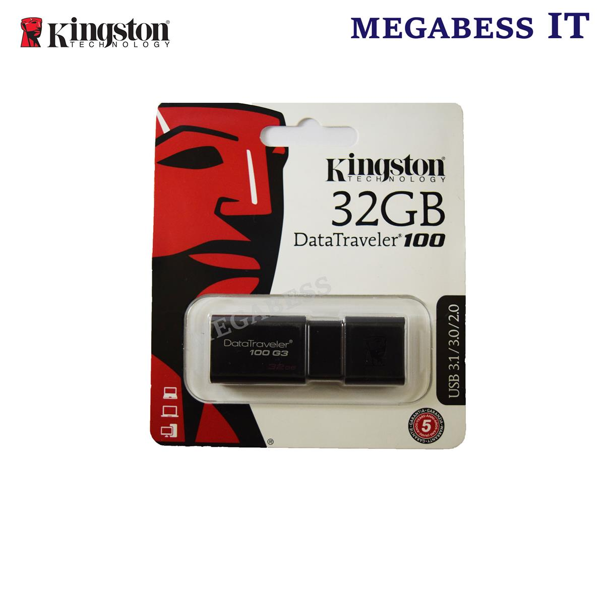 KINGSTON  PENDRIVE 32GB DT100G3 USB 3.0 32GB