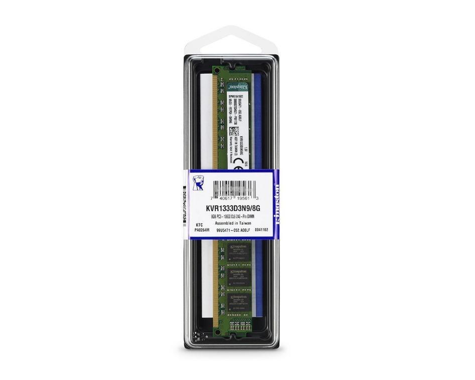 KINGSTON RAM Desktop DDR3 8GB PC1333 16 CHIPS (KVR1333D3N9 8G) 0cac88a072db