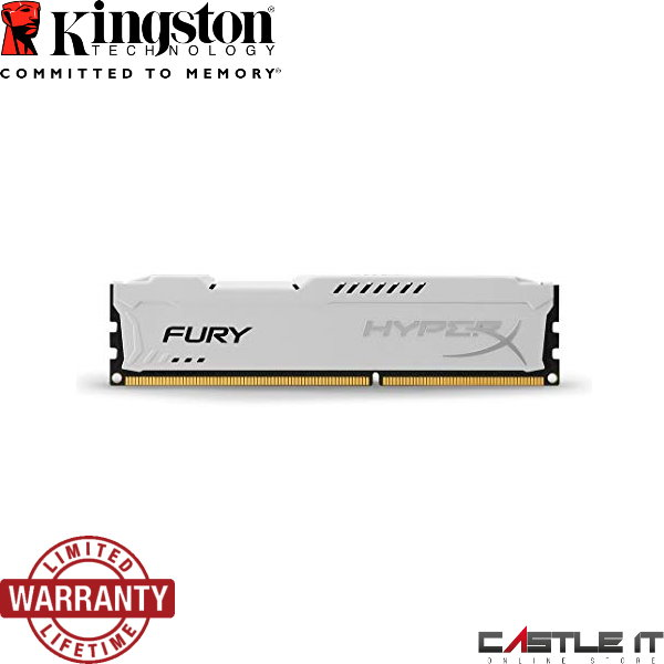 KINGSTON RAM Desktop DDR3 HyperX FURY 8GB 1600 (HX316C10FW/8) WHITE