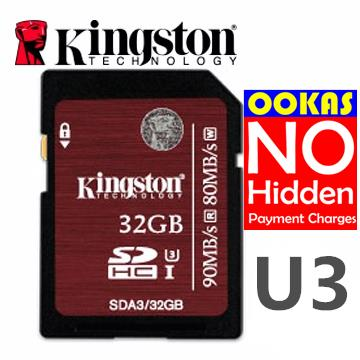 KINGSTON SDHC/SDXC UHS-I U3 16GB/32GB/64GB Class 10 SD Memory Card