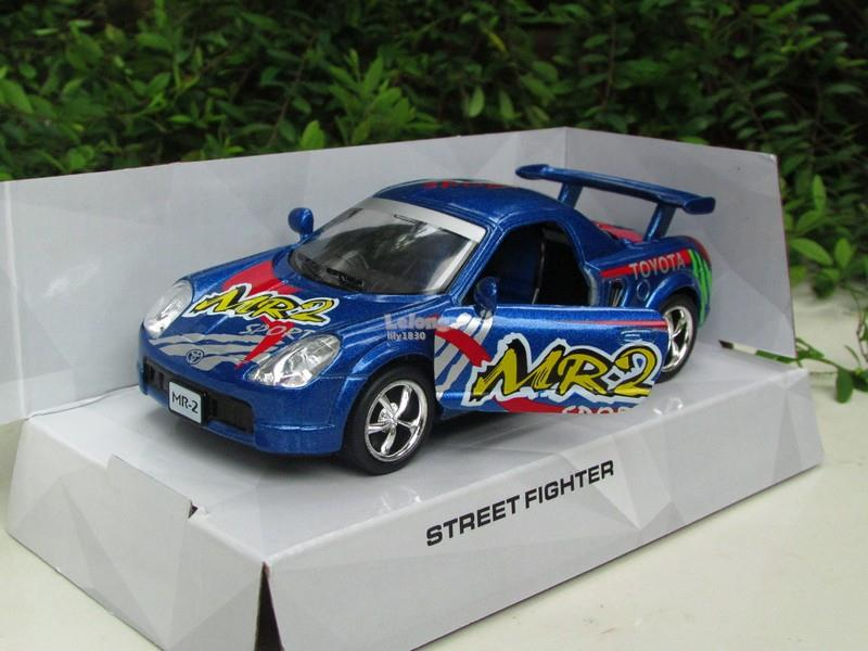 Kinsmart 5' (1/34) Die Cast Metal Street Fighter Toyota MR2 Blue 2002