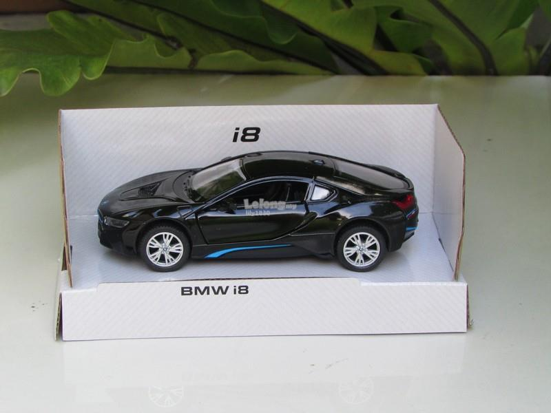 Kinsmart 5' (1/36) Die Cast Metal BMW i8 Black