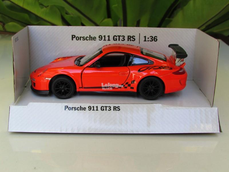 Kinsmart 5' (1/36) Die Cast Metal Porsche 911 GT3 RS Orange