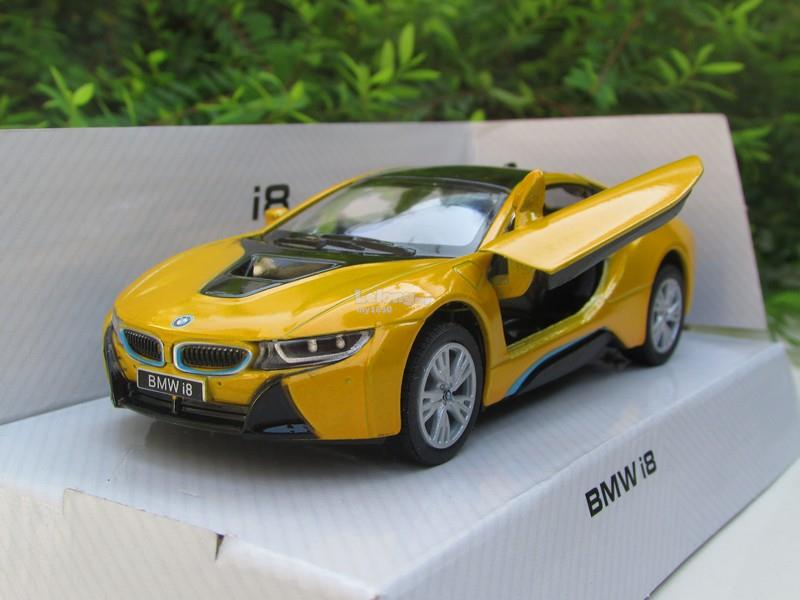 Kinsmart 5 1 36 Diecast Bmw I8 2018 2 Doors Coupe Yellow