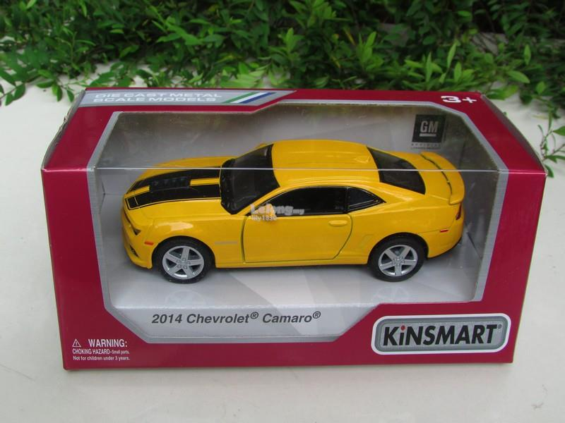 Kinsmart 5' (1/38) Die Cast Metal 2014 Chevrolet Camaro (Yellow)